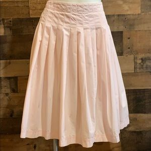 Calvin Klein Pastel Pink Pleated Full Skirt